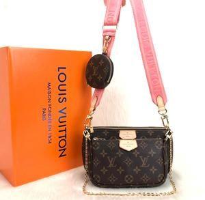 LV Multi Pochette Accessoires Canvas Shoulder Bag